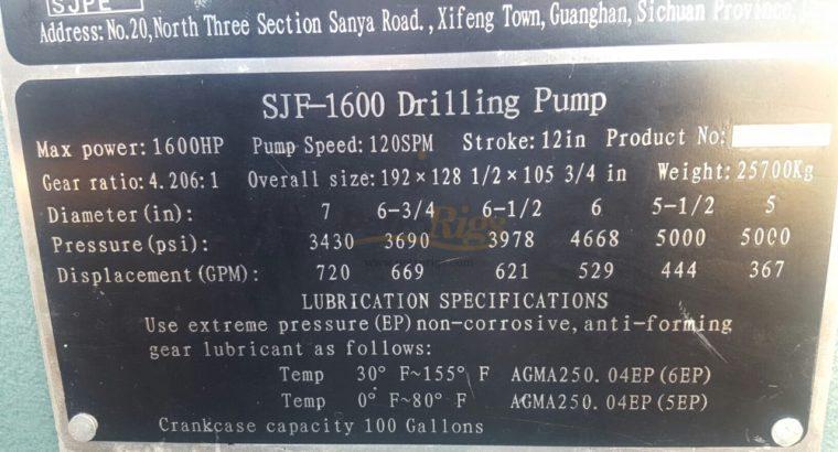 Four F1600hp Mud Pumps