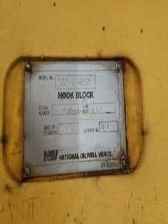 NOV 650 Ton Traveling Block
