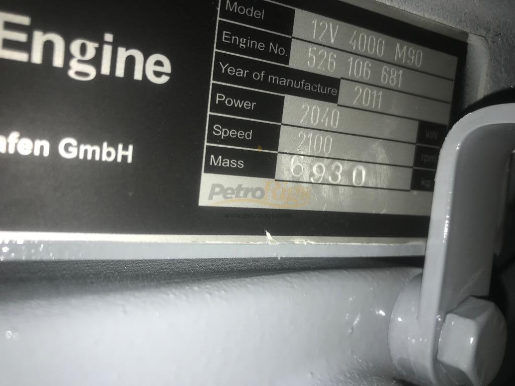 MTU 12V4000 M90 Engines ⋆ PetroRigs com