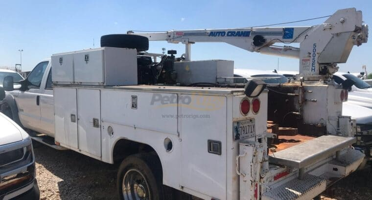 Ford F-550 Auto Crane Work Truck