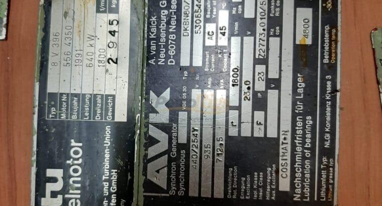 MTU 8V396 640KW Genset