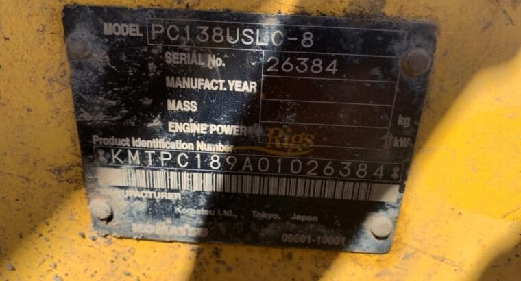 Komatsu PC138US-8 Excavator