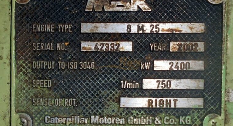 MaK 8M25 Genset